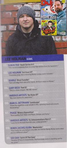 LEE HOLMAN DJ MAG FEBCHART 2012