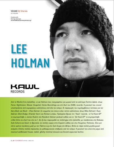 Lee Holman [Soundmaker Interview - Greece] Page 1